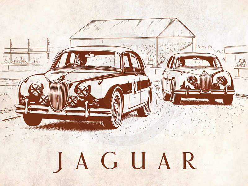 Jaguar Mk2 Racing By Tom Connell On Dribbble