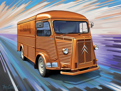 Citroen H Van Illustration