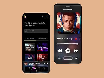 Music App design ux design mobile app ui app ui music app design ui design ui app music