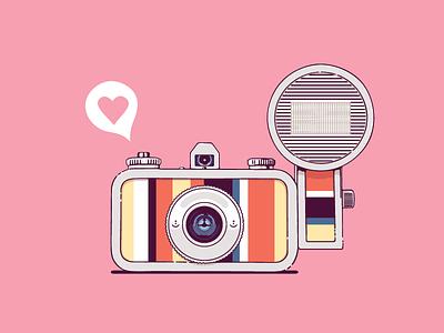 Lomo Camera retro analog camera illustration