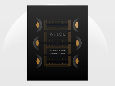 Wilco moon poster