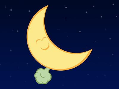 Night Fart illustration moon fart