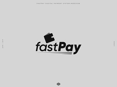 FASTPAY Digital payment redesign logos branding brand identity logotype logo design brand design yalçın gözüküçük logo designer logodesign fast pay fastpay