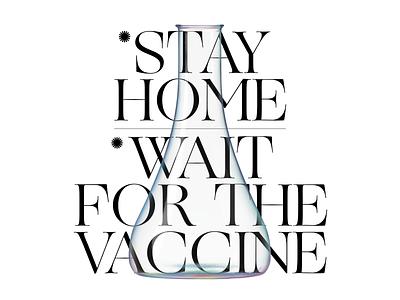 2021 pandemic and vaccine typographic design brand identity logo designer logodesign yalçın gözüküçük typographic design type typographic wait for the vaccine virus coronavirus covid19 vaccine work vaccine vaccines stay home pandemic