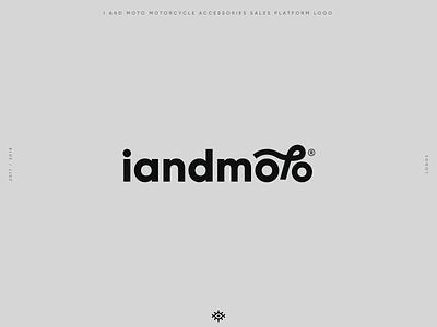 iandmoto motorcycle accessories platform logo design motorcycle iandmoto branding logotype brand identity logo design brand design yalçın gözüküçük logodesign logo designer