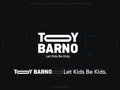"""ToyBarno"" Digital Game Company logo logo technical drawing bussinescard appcion companylogo gamelogo branding brand identity logo design brand design yalçın gözüküçük logodesign logo designer"