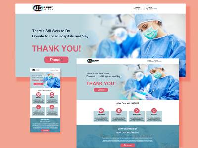 Heart Thank You Donation Landing Page Draft affinity non-profit landingpage front-end webdesign