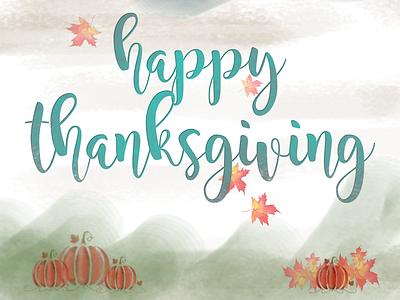 Happy Thanksgiving creativity illustration background design brushes watercolor affinityphoto