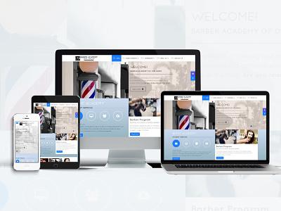 Academy Website branding web