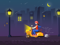 Illustrations_Motor&Street lamp