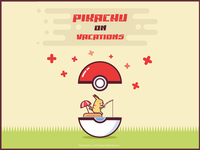 Pikachu on Vacations