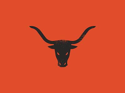 Longhorn Mark simple illustration horns vector design icon dallas texas longhorn logo