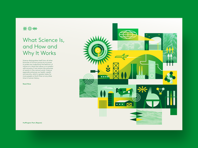 Science tech modern green eco layout editorial website web branding ux texture iconography flat graphic icon simple nature design vector illustration