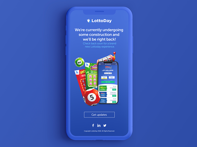 Lottery under construction crypto krs games ifraim lotto lottery digital uidesign krsdesign ui ux