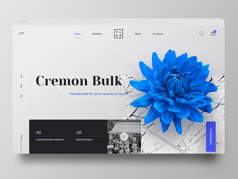 Header for flowers e-shop russia premium header flower adobe xd black invision krsdesign ui ux