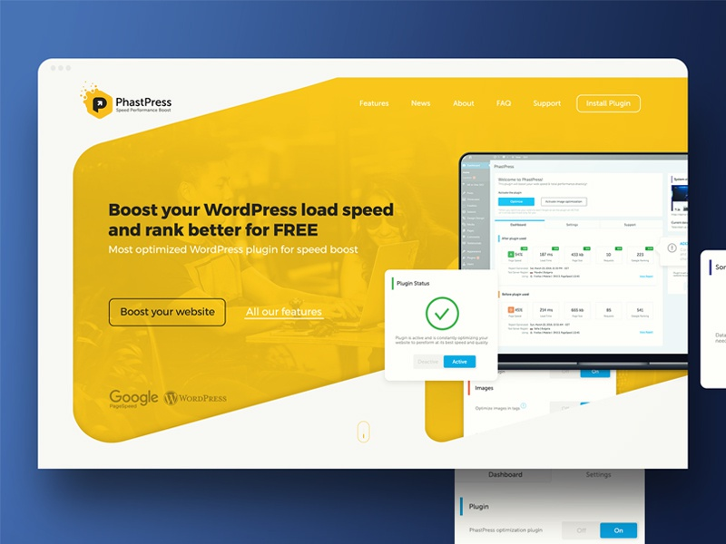 WordPress Plugin website by Krasi Stoimenov on Dribbble