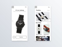Mobile exploration on watches e-shop