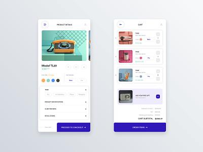 Mobile product card and checkout 📲 product checkout mobile app design design user center design interface uidesign adobe xd krsdesign digital krs ux ui