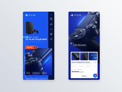 PS4™ Pro app mo app app concept mobile app design blue user center design interface uidesign adobe xd invision krsdesign digital krs ux ui