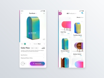 ✍ Furniture app product cards product card mobile app mobile app design interface user center design uidesign invision adobe xd krsdesign digital krs ux ui
