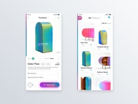 ✍ Furniture app product cards