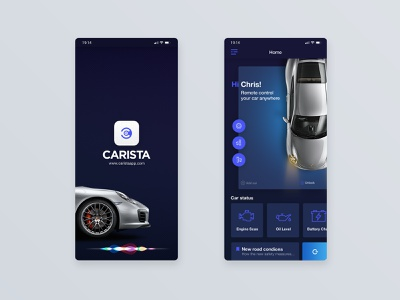 🚘 Carista app OBD2 adapters 2 porsche mobile mobile app car app dashboard blue user center design interface uidesign adobe xd invision krsdesign digital krs ux ui