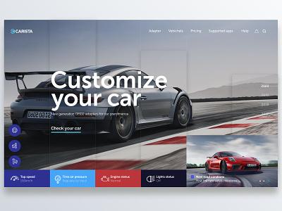 🚘 Carista app OBD2 car car app design header user center design interface uidesign invision adobe xd krsdesign digital krs ux ui