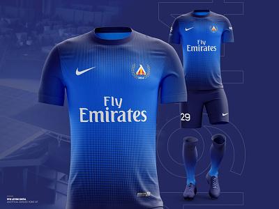 ️⚽️ Levski Sofia 2019/20 home kit gradient logo nike sport club krsdesign t-shirt design blue kit sport branding branding football club football levski illustration krs