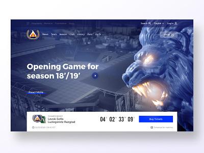 ️⚽ Levski Hero Section football sport branding levski sport typography branding vector design header web blue user center design interface uidesign invision digital krsdesign krs ui ux