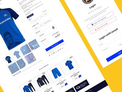 E-commerce product page 2 product page e-commerce e-shop levski sofia levski football club football sports design sport blue user center design interface uidesign adobe xd digital krsdesign krs ux ui