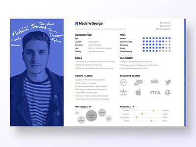 User persona detailed profile persona research user center design invision digital krsdesign krs ux ui user persona
