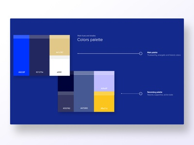Color plate for Levski pattern levski hex code user center design interface uidesign adobe xd digital krsdesign krs ui contrast design system palette color