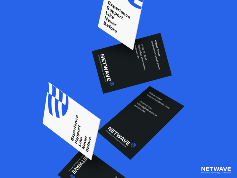 Netwave   Business Card marketing stationery design stationery typography illustration vector brand identity brand branding design logo logo design