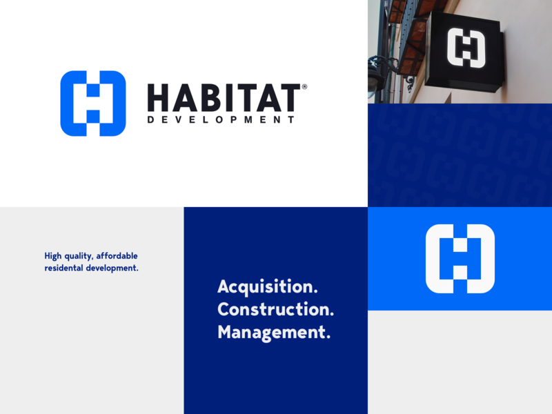 Habitat Development | Moodboard lockup combination mark seal visual identity typography art vector illustration photoshop branding brand design logo mark mark logo design