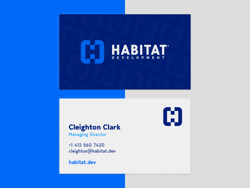 Habitat Development | Business Card lockup combination mark seal visual identity typography art vector illustration photoshop branding brand design logo mark mark logo design