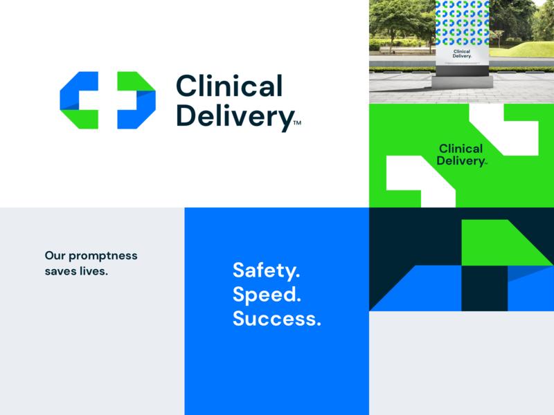 Clinical Delivery | Mood board lockup combination mark seal visual identity typography art vector illustration photoshop branding brand design logo mark mark logo design