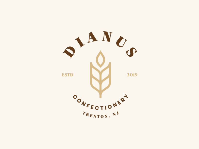 Dianus | Lockup lockup combination mark seal visual identity typography art vector illustration photoshop branding brand design logo mark mark logo design