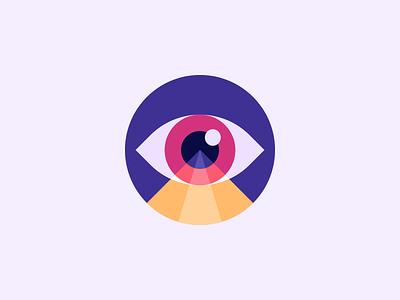 👁 Vision Icon 👁 illustrator vector art sticker stamp patch vision eye logo mark art illustration vector logo branding mark photoshop design logo design