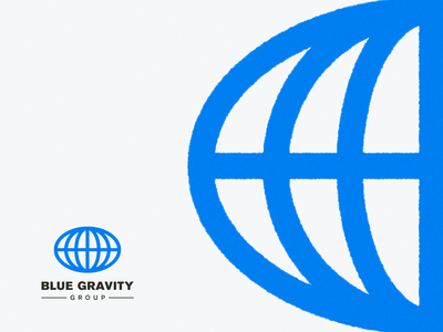Blue Gravity Group world globe illustrator logo mark visual identity brand illustration vector logo branding mark photoshop design logo design