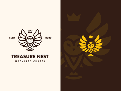 Treasure Nest |  Lockup lockup combination mark seal visual identity typography art vector illustration photoshop branding brand design logo mark mark logo design