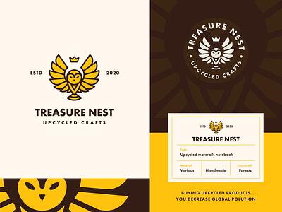 Treasure Nest | Label lockup combination mark seal visual identity typography art vector illustration photoshop branding brand design logo mark mark logo design