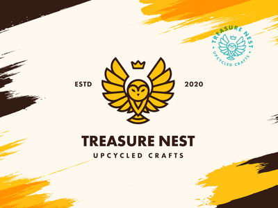 Treasure Nest | Visual Identity lockup combination mark seal visual identity typography art vector illustration photoshop branding brand design logo mark mark logo design