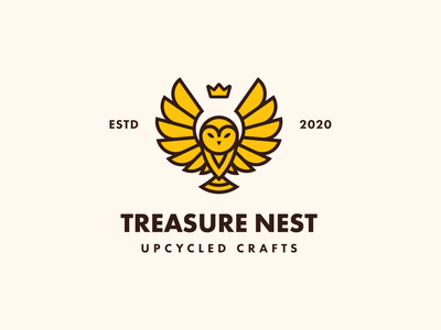 Treasure Nest | lockup combination mark seal visual identity typography art vector illustration photoshop branding brand design logo mark mark logo design