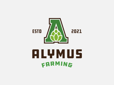 Alymus Farming lockup combination mark seal visual identity typography art vector illustration photoshop branding brand design logo mark mark logo design