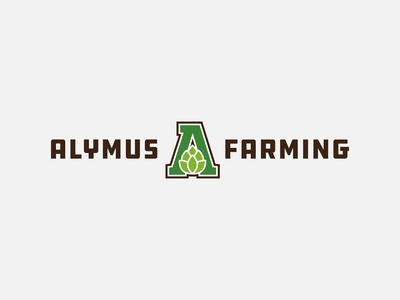 Alymus Farming | Lockup lockup combination mark seal visual identity typography art vector illustration photoshop branding brand design logo mark mark logo design