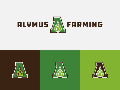 Alymus Farming | icons and logo lockup combination mark seal visual identity typography art vector illustration photoshop branding brand design logo mark mark logo design