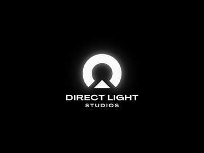 Direct Light Studio | Logo lockup combination mark seal visual identity typography art vector illustration photoshop branding brand design logo mark mark logo design