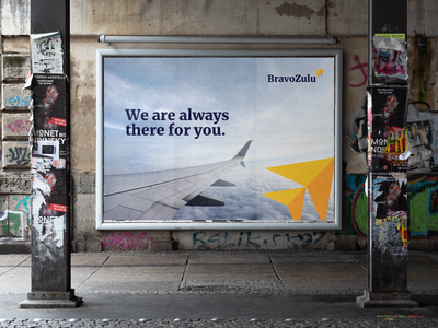 BravoZulu   Marketing private airline brand media billboard lockup logo marketing illustration vector branding mark photoshop design logo design