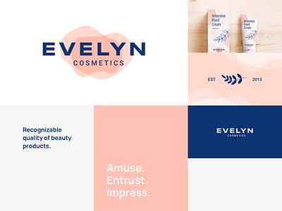 Evelyn Cosmetics | Moodboard mood board beauty cosmetics brand graphic design ux ui logo illustration vector branding mark photoshop design logo design