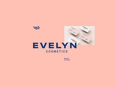 Evelyn Cosmetics | Logotype beauty cosmetics logotype typography brand graphic design ux ui logo illustration vector branding mark photoshop logo design design